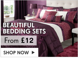 Beautiful Bedding Sets from &pound;12 