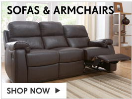 Sofas & Armchairs – Shop Now   >