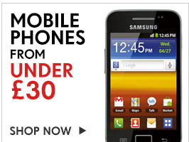 Mobile Phones from under &pound;30. Shop Now &gt;