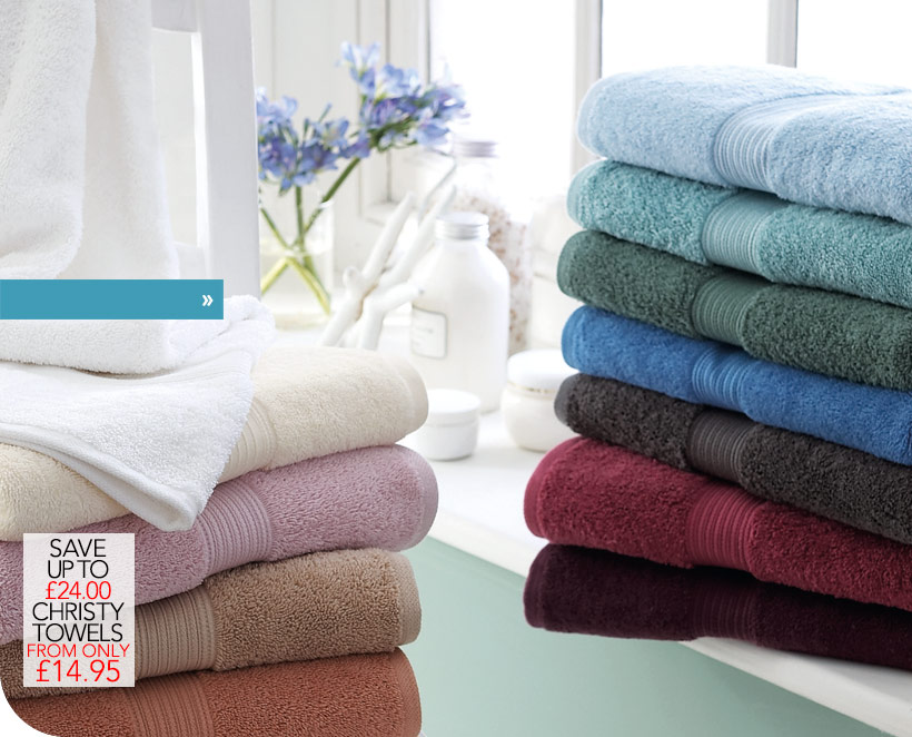 Christy Towels from only &pound14.95