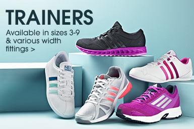 Trainers in Sizes 3-9 & Various Widths >