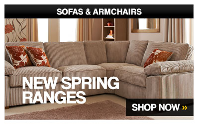 Sofas & Armchairs. New Spring Ranges. – Shop Now >