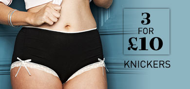 3 for &pound;10 Knickers