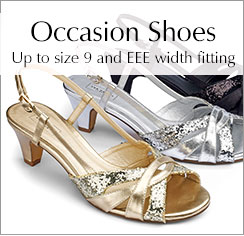 Shop Occasion Shoes Up to size 9 and EEE width fitting