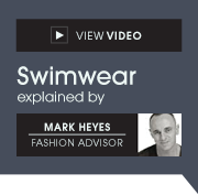 View Video - Swimwear explained by Mark Heyes, Fashion Advisor