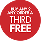 Buy any 2 order a third free