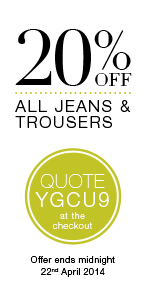20% Off All Footwear Quote YGCU9 at the checkout