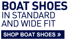 Boat Shoes in standard and wide fit