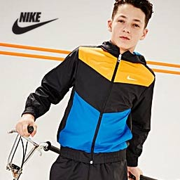 Boy wearing Nike Tracksuit