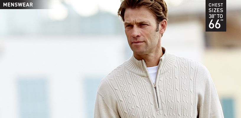 Beige half zip knit