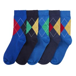Navy & blue socks