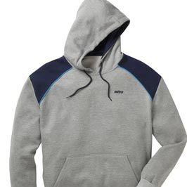 Grey & navy hooded sweatshirt