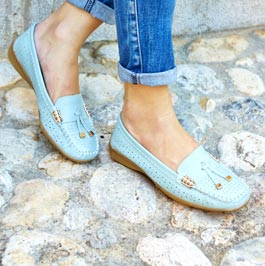 Womens pale blue shoes