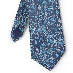 Patterned Blue Tie
