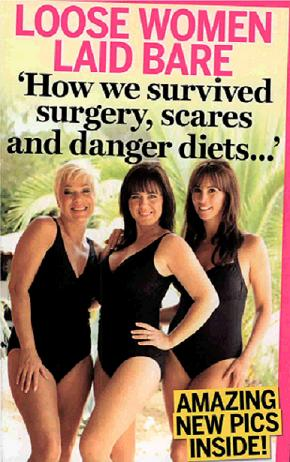 Coleen Nolan, Denise Welch and Andrea Mclean give the Miraclesuit a try!