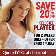 Save 20% off selected Playtex this weekend