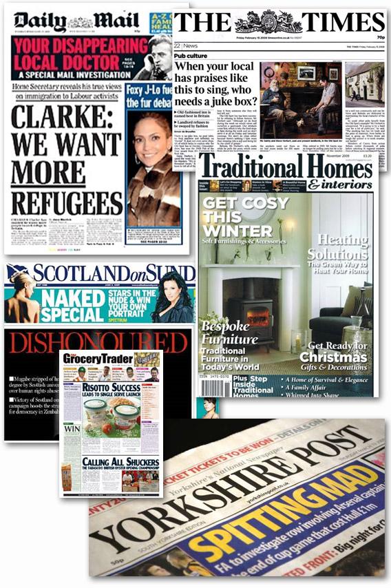House of Bath newspaper cuttings
