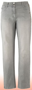 grey Wow slim leg jean
