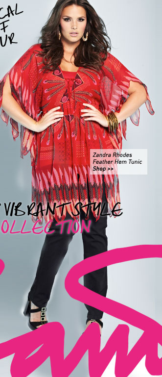 zandra rhodes feather hem tunic