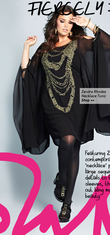 zandra rhodes necklace tunic