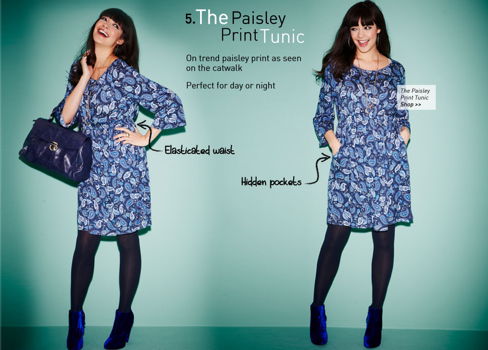 the paisley print dress