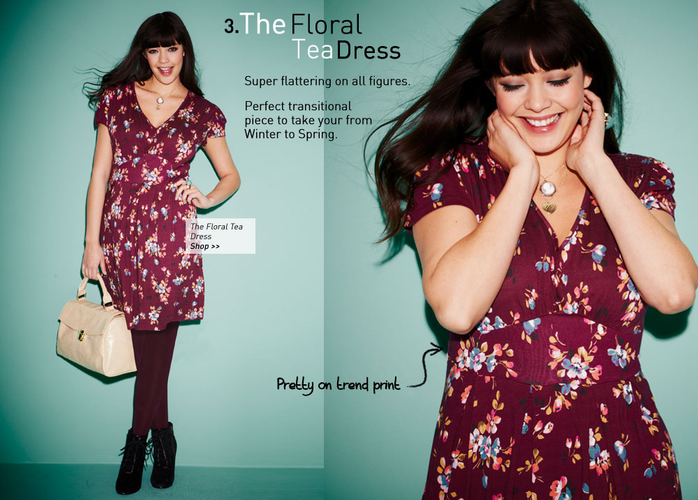 the floral tea dress