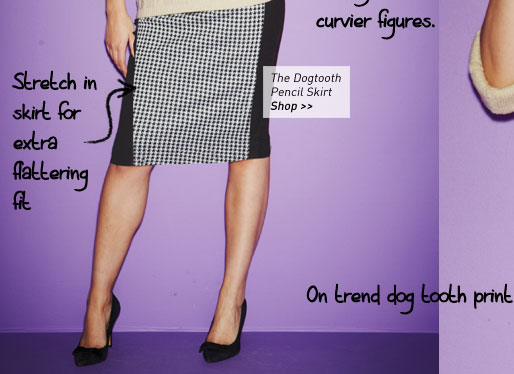 the dogtooth pencil skirt