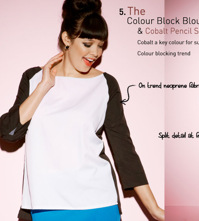 the Colour Block Blouse