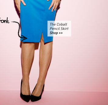 the Cobalt Pencil Skirt
