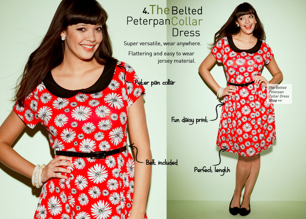 the Belted Peterpan Collar Dress