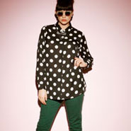 The Polka Dot Blouse & The Coloured Jeans