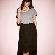 The Slouchy T-Shirt & Dipped Hem Skirt