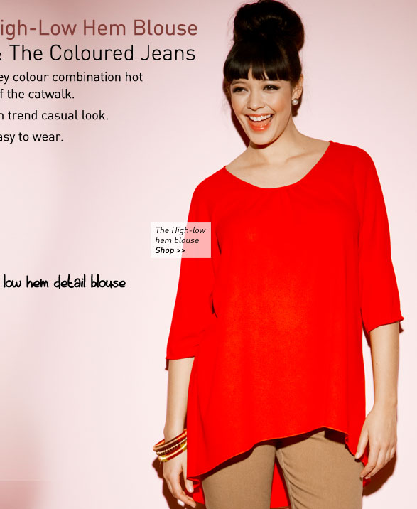 the High-low hem blouse