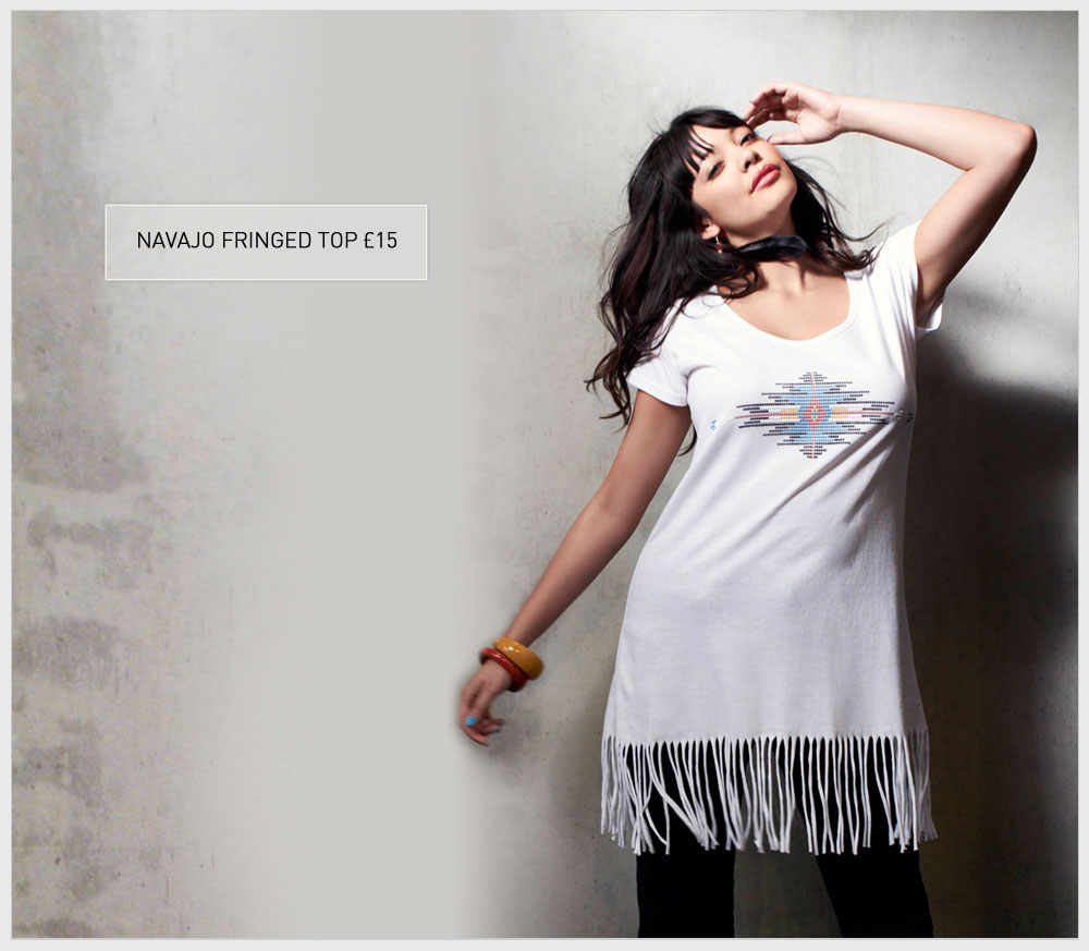 Navajo Fringed Top £15