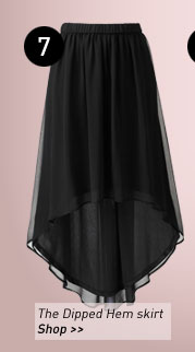 The Dipped Hem skirt