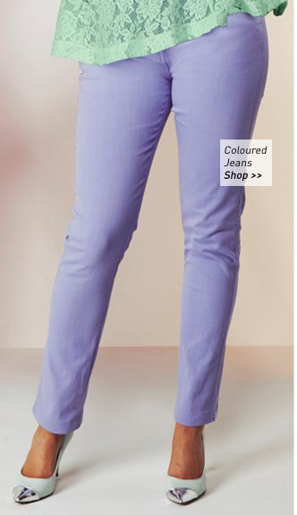 Lilac Coloured Jeans