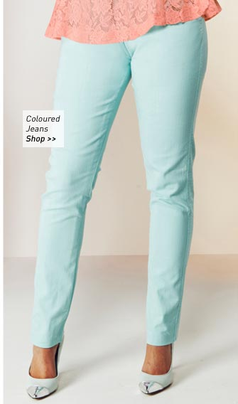 Peppermint Coloured Jeans