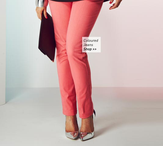 Coral Coloured Jeans