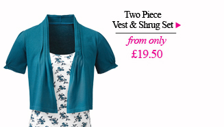Buy Two Piece Vest and Shrug Set >