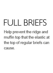 Help prevent the ridge and muffin top that the elastic at the top of regular briefs can cause.