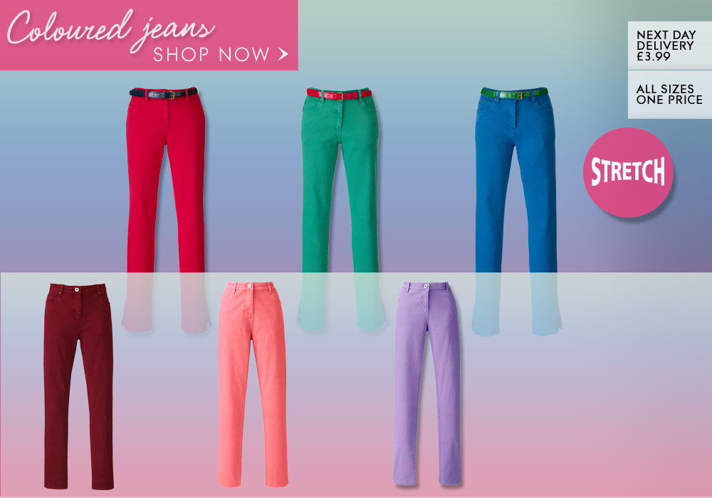 Shop Coloured Jeans >