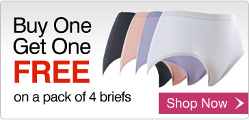 Buy One Get One FREE on a pack of 4 briefs