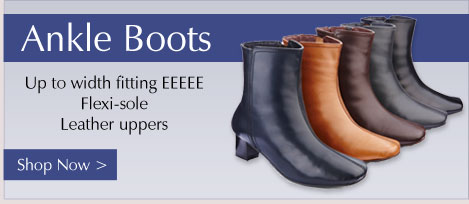 Ankle Boots - up to width fitting EEEEE, Flexi-Sole and leather uppers. Shop Now