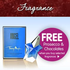 Fragrance - Free Prosecco and Chocolates with selected purchases
