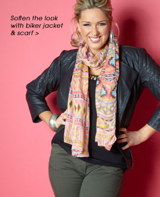 Biker Jacket and scarf