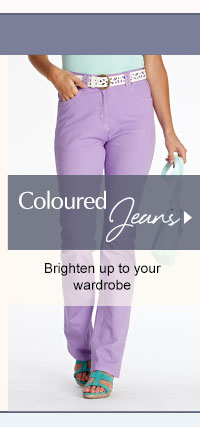 Coloured Jeans - Brighten up to your wardrobe