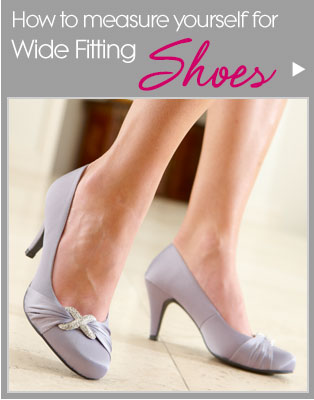 How to measure yourself for Wide Fitting Shoes