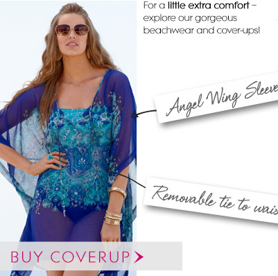 For a little extra comfort – explore our gorgeous beachwear and cover-ups!
