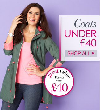 Coats under 40