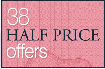 38 Half price offers